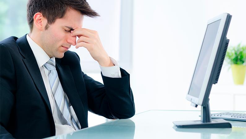 Computerarbejde kan give irriterede øjne