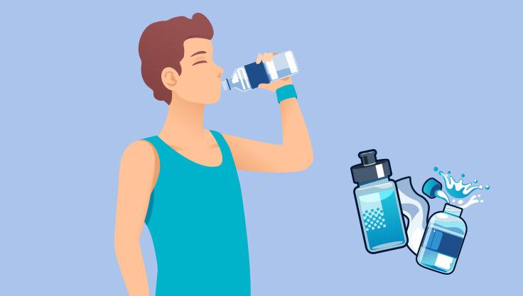 Mand-drikker-vand