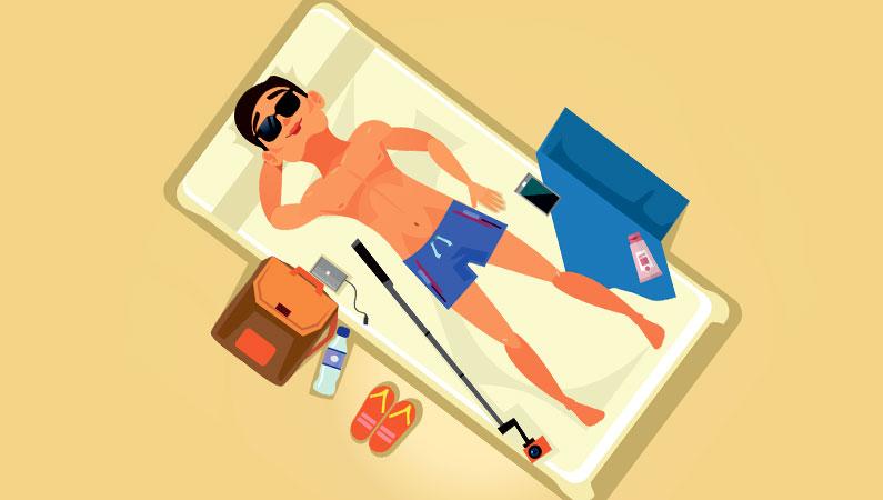 Solbadning skader hud