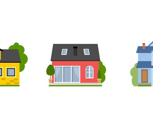 Typehuse og byggegrunde