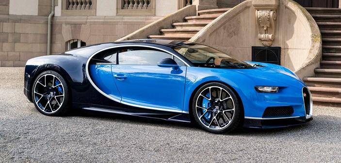 Den nye Bugatti Chiron blev præsenteret på Geneve Motor Show 2016