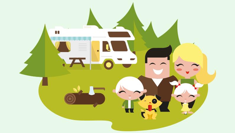 Camping med hund