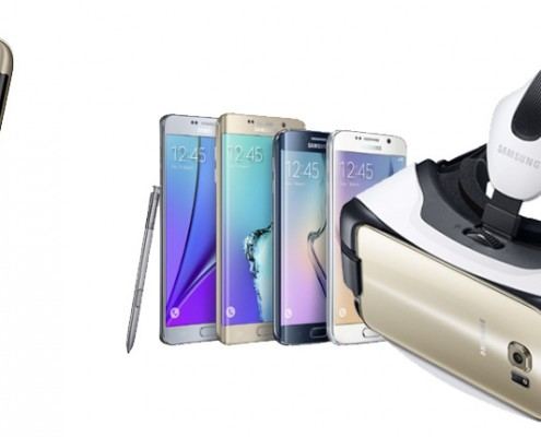 Samsung 7 edge with virtual reality briller